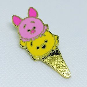 Piglet & Pooh Ice Cream Cone Pin